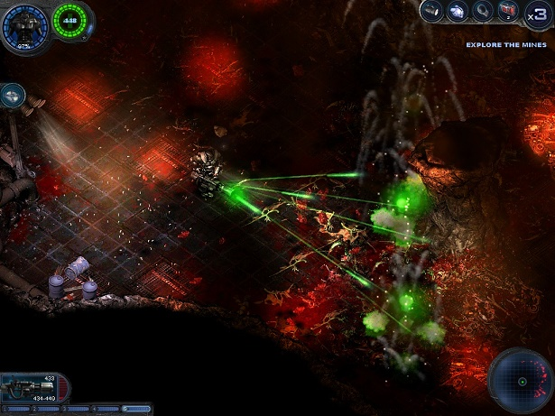 Alien shooter 2, a single player Shooting game, defending against aliens attack, download with torrent
