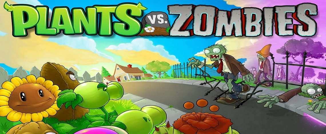 Plants vs Zombies, a single player, shooting game for kid and platform is pc