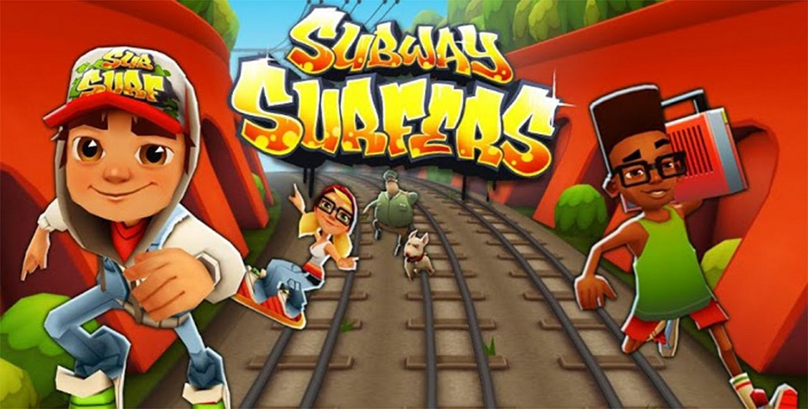 Subway surfers, pc version of android app. a single player android game
