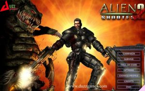 Alien shooter 2, a single player Shooting game, defending against aliens attack