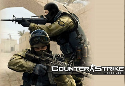 counter strike, a first person shooting video game for pc