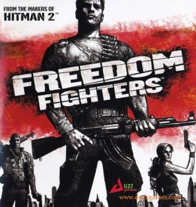 Download Freedom Fighters, a single player third person video game, featuring shooting, fighting and running sprite in new York streets, free
