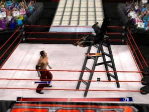 wwe raw game ladder fight
