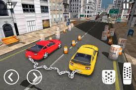 Chained Cars 3D Challenge acing stunts games.